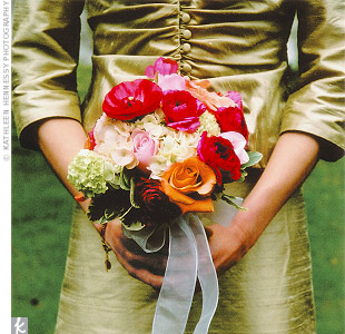 What was your wedding bouquet style?